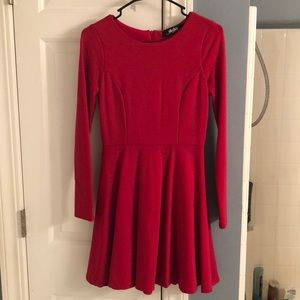 LuLu's Red Skater Dress